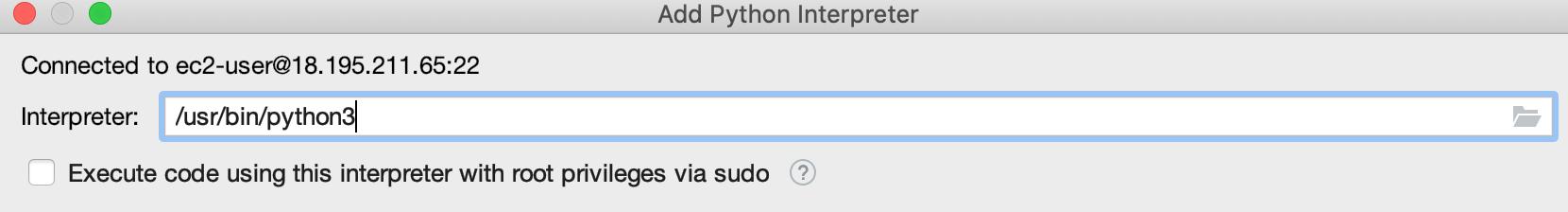 Remote Python config